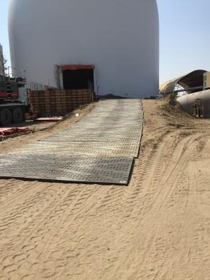 TuffTrak XL composite mats in use in Yorkton