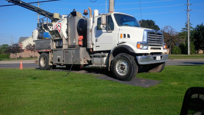 LM with Vac Truck on it