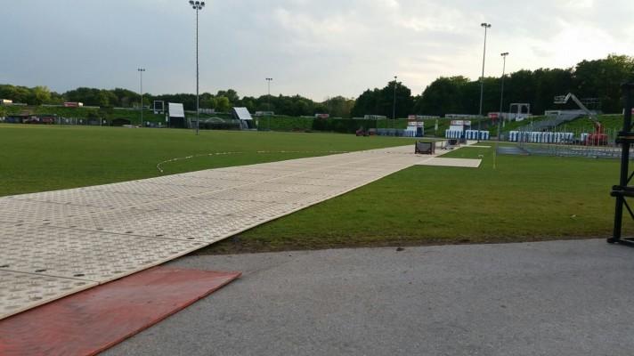 Signaroad composite mats in use