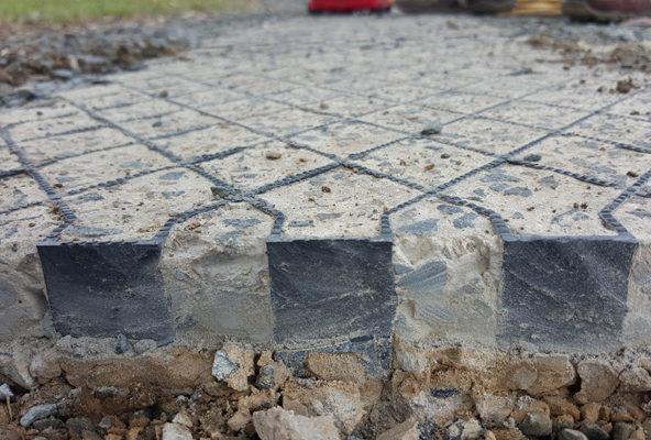 Diamond Grid for Concrete Reinforcement