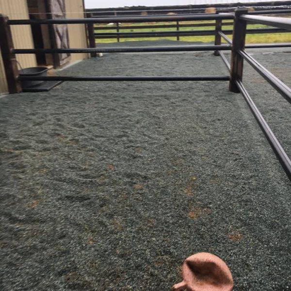 Diamond Grid Installed and covered with gravel