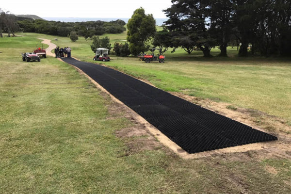 Diamond Grid for Golf Cart Paths